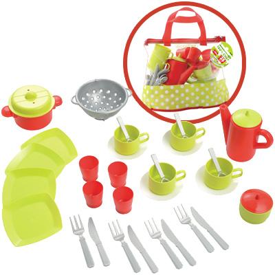 Ecoiffier puppengeschirr m tasche kindergeschirr for Geschirr für kinderküche