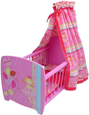 knorrtoys puppenbett mit himmel little princess bett f r puppe himmelbett neu ebay. Black Bedroom Furniture Sets. Home Design Ideas