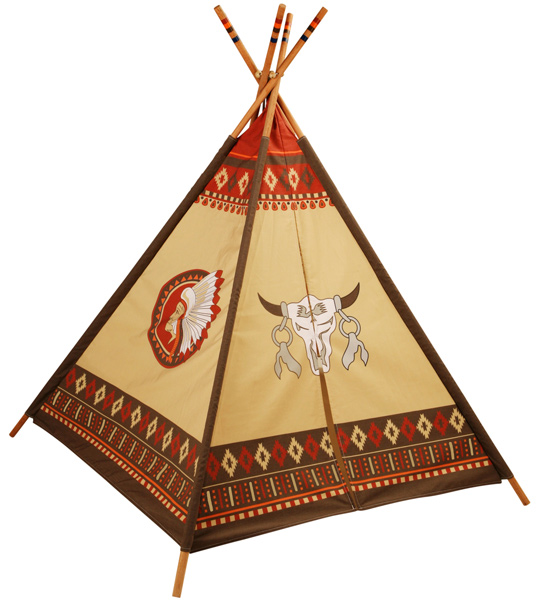 knorrtoys indianer tipi spielzelt kinder indianertipi tippi spielhaus zelt ebay. Black Bedroom Furniture Sets. Home Design Ideas