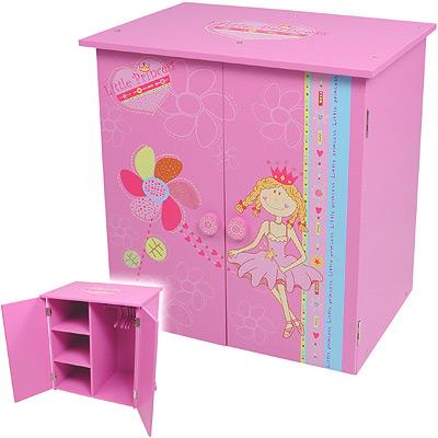 knorrtoys puppenschrank little princess pink schrank puppen puppenkleidung neu ebay. Black Bedroom Furniture Sets. Home Design Ideas
