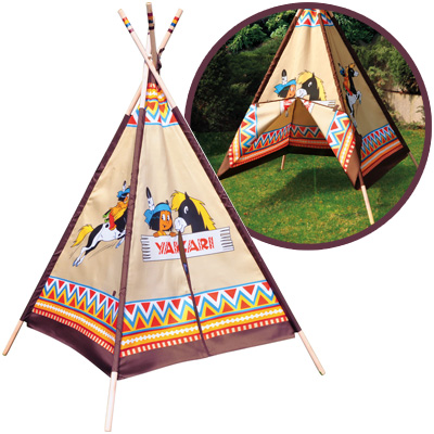 knorrtoys yakari wigwam tipi spielzelt zelt kinder indianerzelt spielhaus tippi ebay. Black Bedroom Furniture Sets. Home Design Ideas