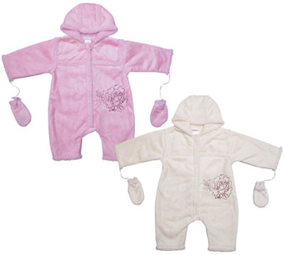 Liliput-Baby-Overall-mit-Handschuhen-Gr-68-Rosa