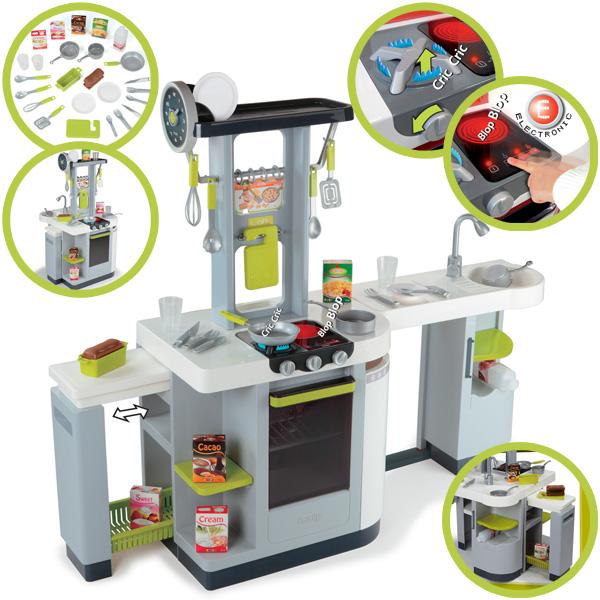 Smoby elektronische kinderkuche loft grau spielkuche for Smoby kinderküche