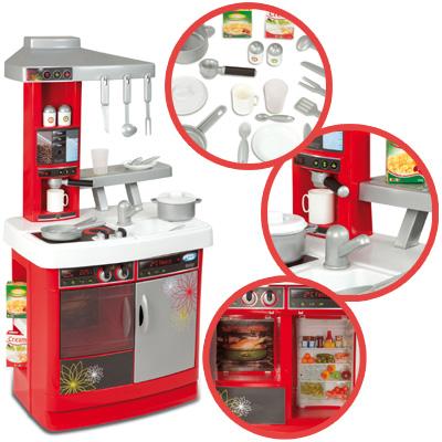 Smoby kinderkuche bon appetit cherry rot spielkuche kuche for Spielküche smoby