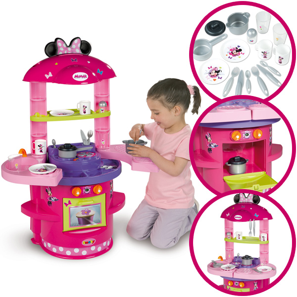 smoby meine erste k che minnie maus spielk che kinderk che spielzeug kinder neu ebay. Black Bedroom Furniture Sets. Home Design Ideas