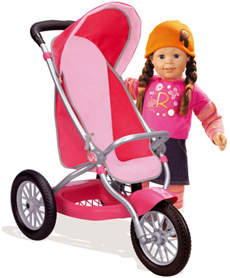 smoby puppenjogger rosy rosa puppenwagen f r gro e puppen bis 63 cm jogger ebay. Black Bedroom Furniture Sets. Home Design Ideas