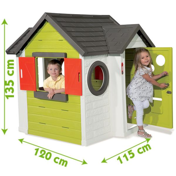 smoby spielhaus mein haus gartenhaus kinder kinderhaus garten h uschen neu ebay. Black Bedroom Furniture Sets. Home Design Ideas