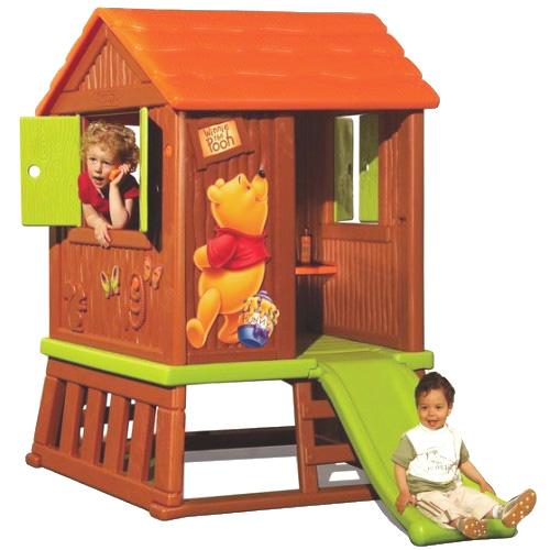 smoby winnie puuh waldhaus mit rutsche spielhaus. Black Bedroom Furniture Sets. Home Design Ideas