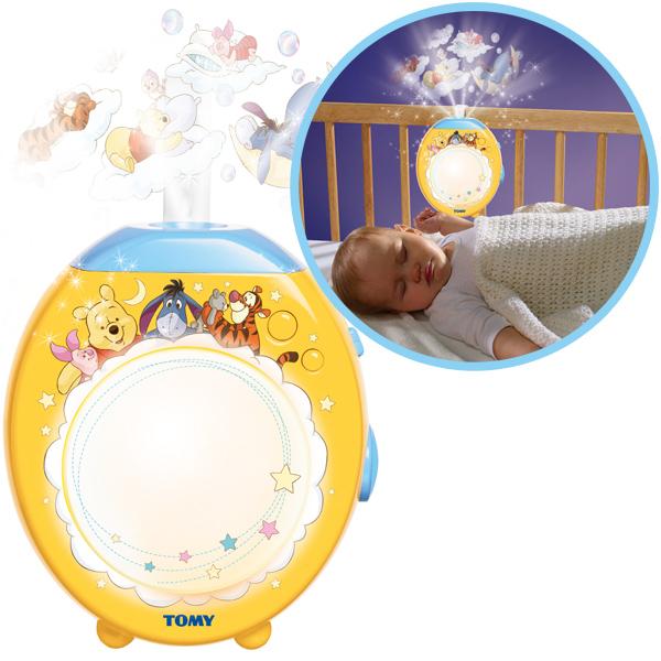 tomy winnie puuh schlaf gut nachtlicht projektor lichtprojektor baby schlaflicht ebay. Black Bedroom Furniture Sets. Home Design Ideas