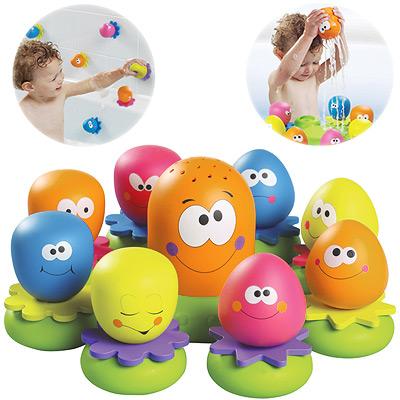Tomy-Okto-Plantschis-fuer-die-Badewanne-Spielzeug-Badespielzeug-Kinder-Baden-NEU