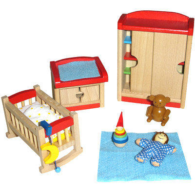 goki puppenhausm bel f r das kinderzimmer m bel puppenhaus. Black Bedroom Furniture Sets. Home Design Ideas