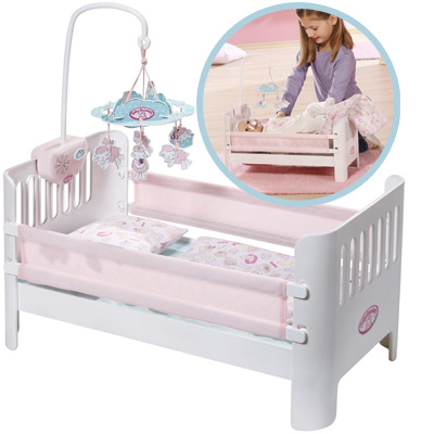 zapf creation baby annabell bettchen mit mobile bett puppenbett puppe neu ebay. Black Bedroom Furniture Sets. Home Design Ideas